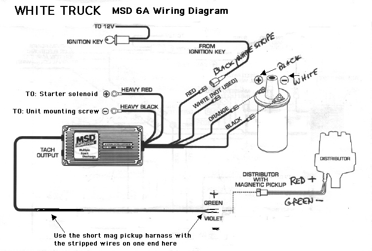 Wiring Diagram For Msd 6al : White truck mods